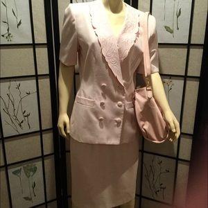 Le Suit 2 Pc Suit with Embroidery Trim